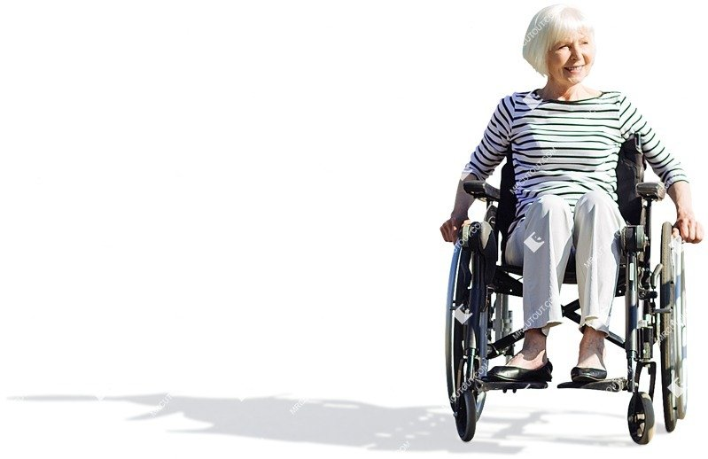 Cut out people - Disabled Elderly Person 0001