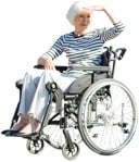 Cut out people - Disabled Elderly Person 0002 | MrCutout.com