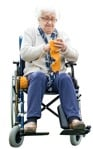 Cut out people - Disabled Elderly Person Sitting 0001 | MrCutout.com