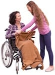 Cut out people - Disabled Person With Caregiver 0001 | MrCutout.com