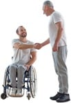 Cut out people - Disabled Person With Caregiver 0011 | MrCutout.com