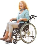 Cut out people - Disabled Woman 0002 | MrCutout.com