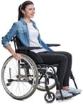 Cut out people - Disabled Woman 0004 | MrCutout.com