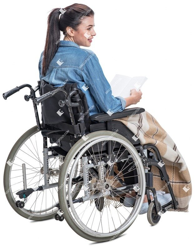 Cut out people - Disabled Woman Reading A Book 0001 preview