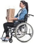 Cut out people - Disabled Woman Shopping 0003 | MrCutout.com