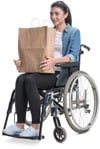 Cut out people - Disabled Woman Shopping 0004 | MrCutout.com