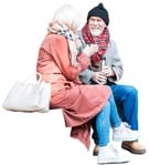 Cut out people - Elderly Couple Drinking 0001 | MrCutout.com