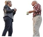 Cut out people - Elderly Couple Drinking Coffee 0002 | MrCutout.com
