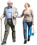 Cut out people - Elderly Couple Shopping 0001 | MrCutout.com