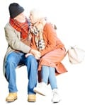 Cut out people - Elderly Couple Sitting 0001 | MrCutout.com