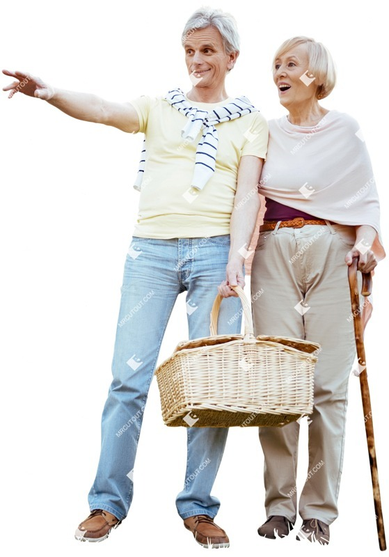 Cut out people - Elderly Couple Standing 0001 preview
