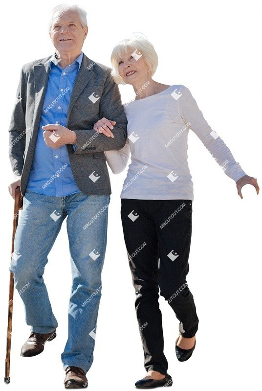 Cut out people - Elderly Couple Walking 0002 preview