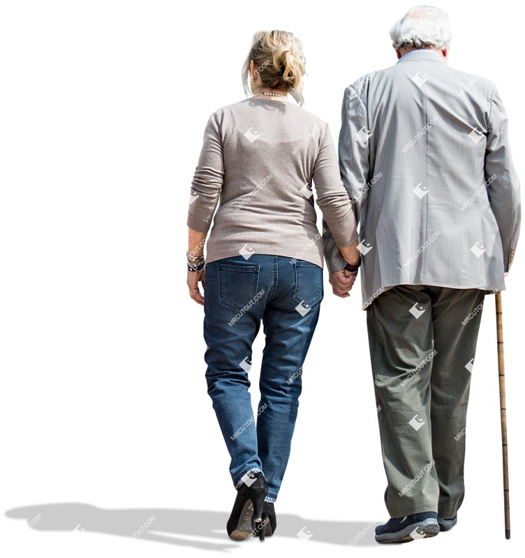 Cut out people - Elderly Couple Walking 0003 preview