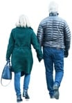 Cut out people - Elderly Couple Walking 0006 | MrCutout.com