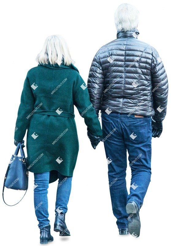 Cut out people - Elderly Couple Walking 0006 preview