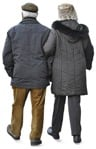 Cut out people - Elderly Couple Walking 0007 | MrCutout.com