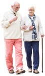 Cut out people - Elderly Couple Walking 0008 | MrCutout.com