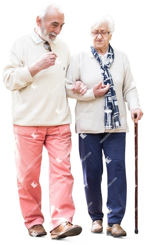 Cut out people - Elderly Couple Walking 0008 preview