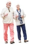 Cut out people - Elderly Couple Walking 0010 | MrCutout.com