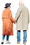 Cut out people - Elderly Couple Walking 0012 | MrCutout.com