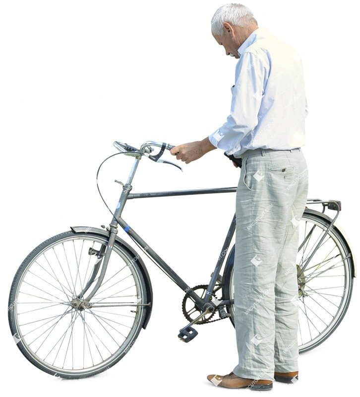 Cut out people - Elderly Cycling 0004 preview