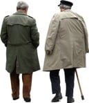 Cut out people - Elderly Group Man Grandfather Walking 0001 | MrCutout.com