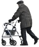 Cut out people - Elderly Man Grandfather Walking 0001 | MrCutout.com