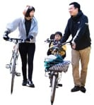 Cut out people - Family Cycling 0002 | MrCutout.com