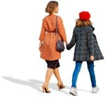 Cut out people - Family Walking 0055 | MrCutout.com