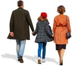 Cut out people - Family Walking 0076 | MrCutout.com