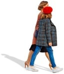 Cut out people - Family Walking 0083 | MrCutout.com