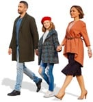 Cut out people - Family Walking 0095 | MrCutout.com