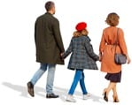 Cut out people - Family Walking 0096 | MrCutout.com