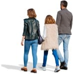 Cut out people - Family Walking 0139 | MrCutout.com