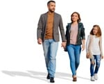 Cut out people - Family Walking 0157 | MrCutout.com