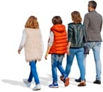Cut out people - Family Walking 0165 | MrCutout.com