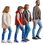 Cut out people - Family Walking 0167 | MrCutout.com