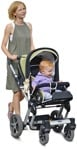 Cut out people - Family With A Stroller Walking 0010 | MrCutout.com