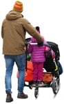 Cut out people - Family With A Stroller Walking 0011 | MrCutout.com