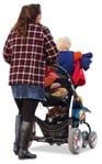 Cut out people - Family With A Stroller Walking 0015 | MrCutout.com