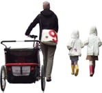 Cut out people - Family With A Stroller Walking 0024 | MrCutout.com