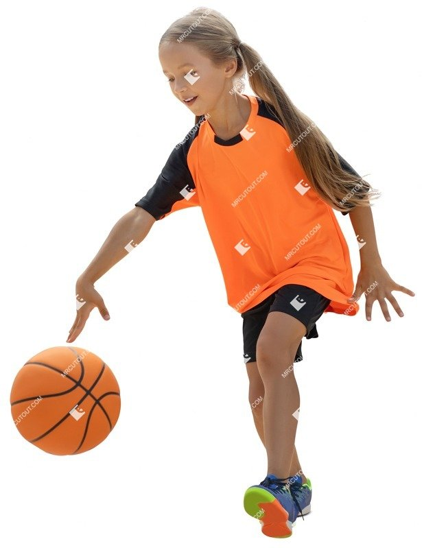 Cut out people - Girl Playing Basketball 0002 preview