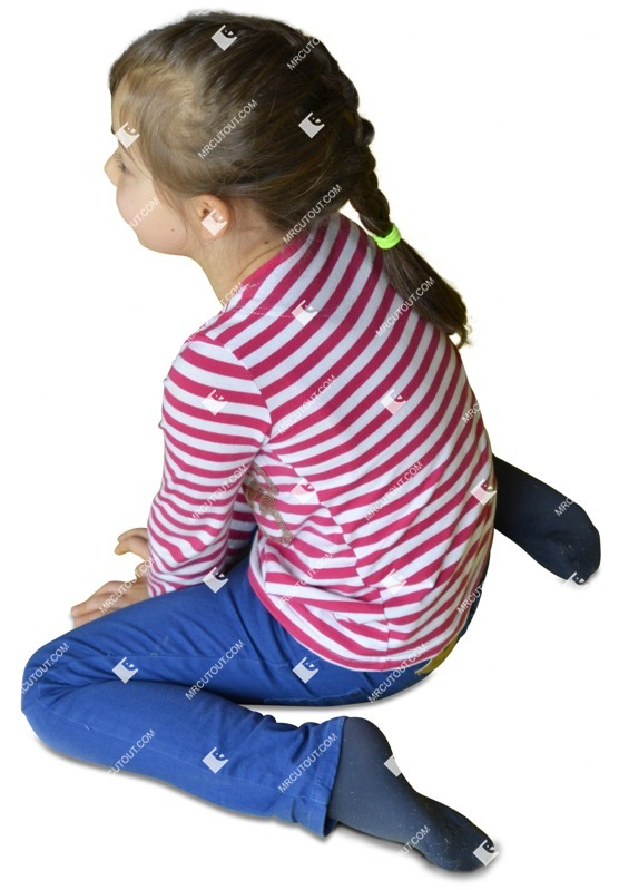Cut out people - Girl Sitting 0007 preview