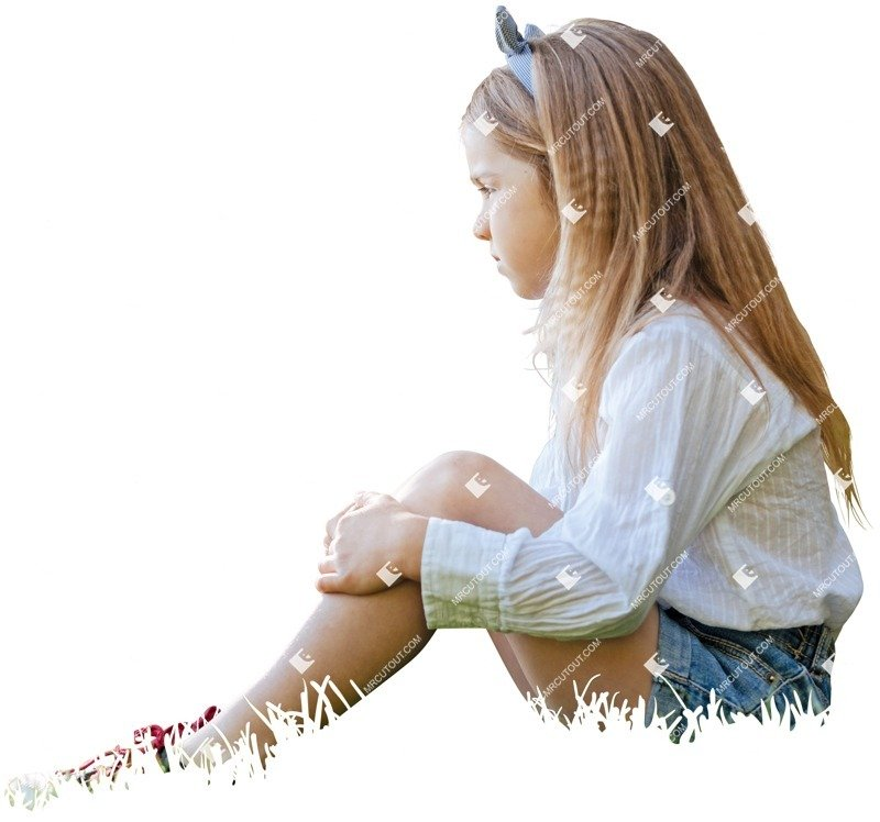 Cut out people - Girl Sitting 0014