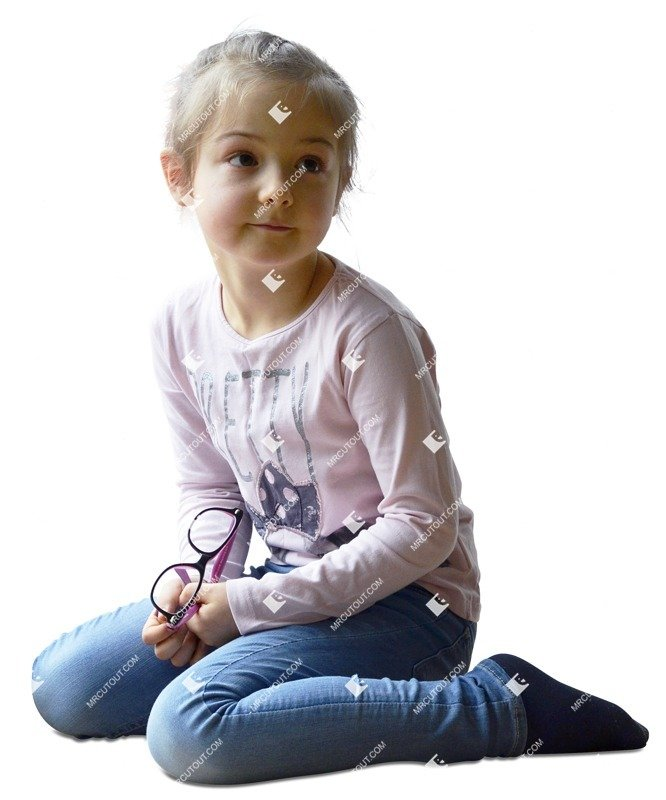 Cut out people - Girl Sitting 0018