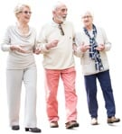 Cut out people - Group Of Elderly People Walking 0003 | MrCutout.com