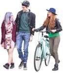 Cut out people - Group Of Friends Cycling 0003 | MrCutout.com