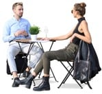 Sitting people friends sitting in a cafe fashionable people png | MrCutout.com