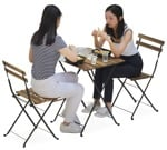 Cut out people - Group Of Friends Eating Seated 0018 | MrCutout.com