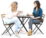 Cut out people - Group Of Friends Eating Seated 0028 | MrCutout.com